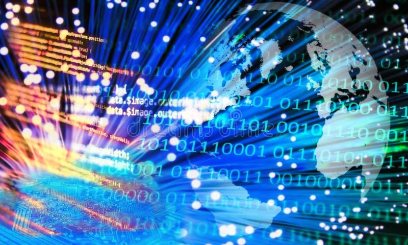 Communication numérique mondiale image libre de droits