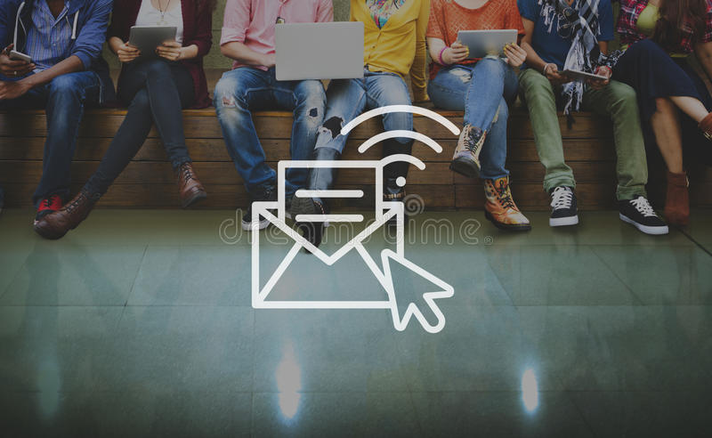 Communication Online Messaging Hotspot Network Concept stock image