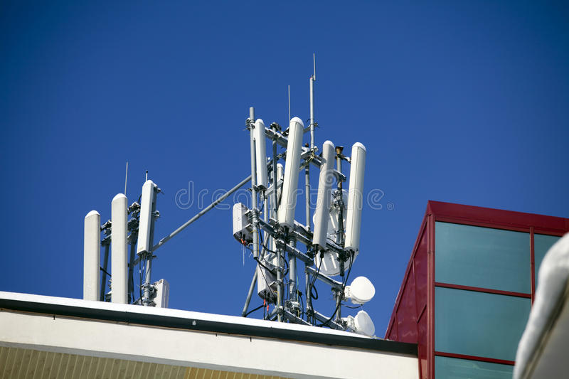 Download Communication pole stock image. Image of frequency, dish - 12807247