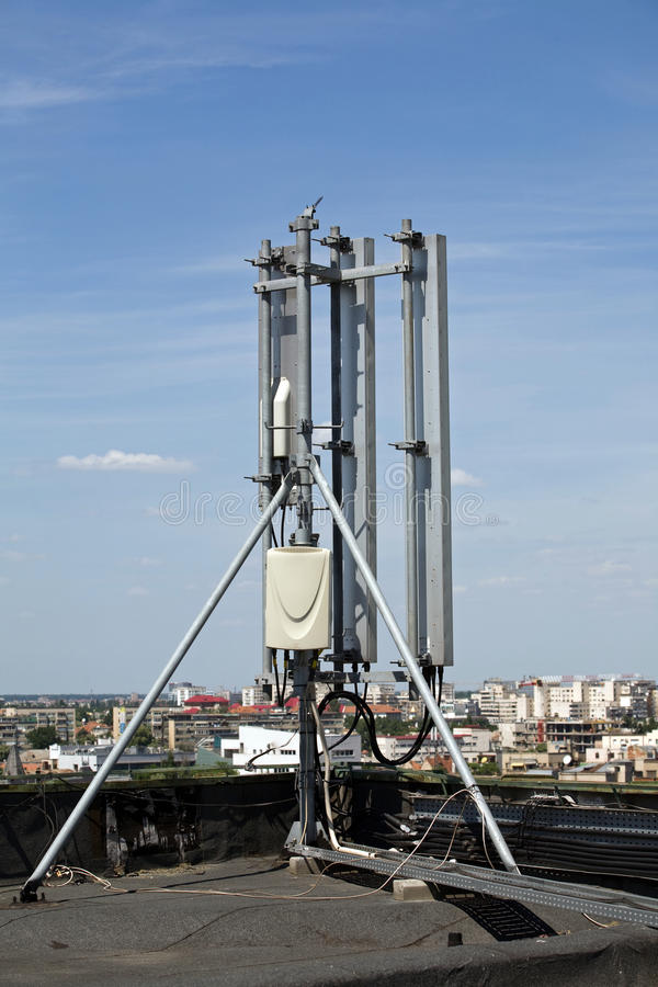 Download Communication pole stock image. Image of roof, connectivity - 9555757