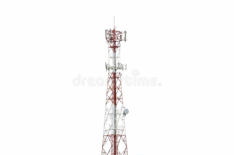 Communication Pole Signal Phone. On white background royalty free stock photos