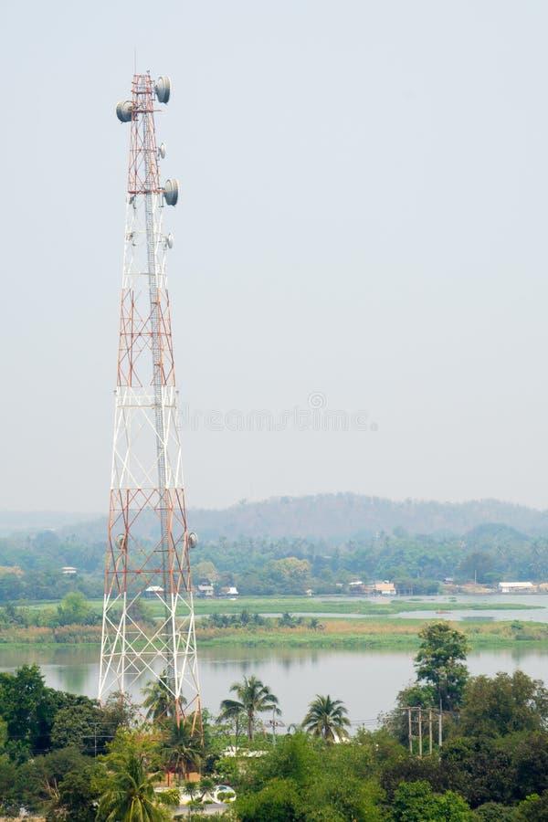 Communication Pole Stand among Nature. Communication Pole Broadcast Stand among Nature stock images