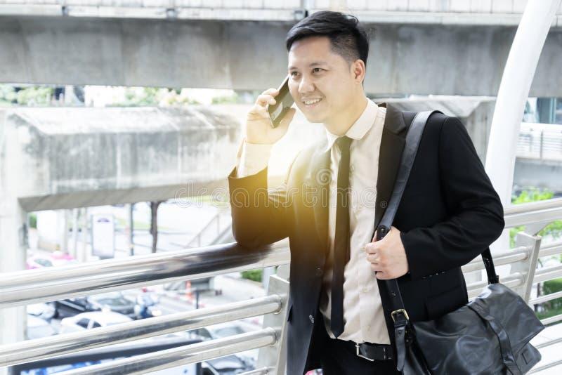 Communication pour le commerce et l'investissement, heureuse de parler photographie stock libre de droits