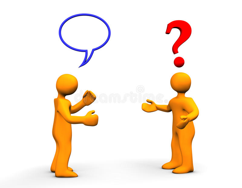 Communication Problem stock illustration