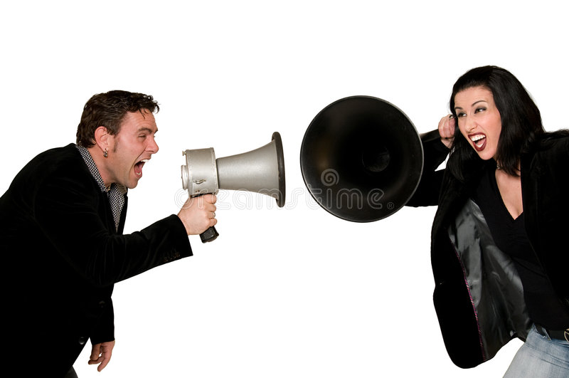 Communication Problems royalty free stock image