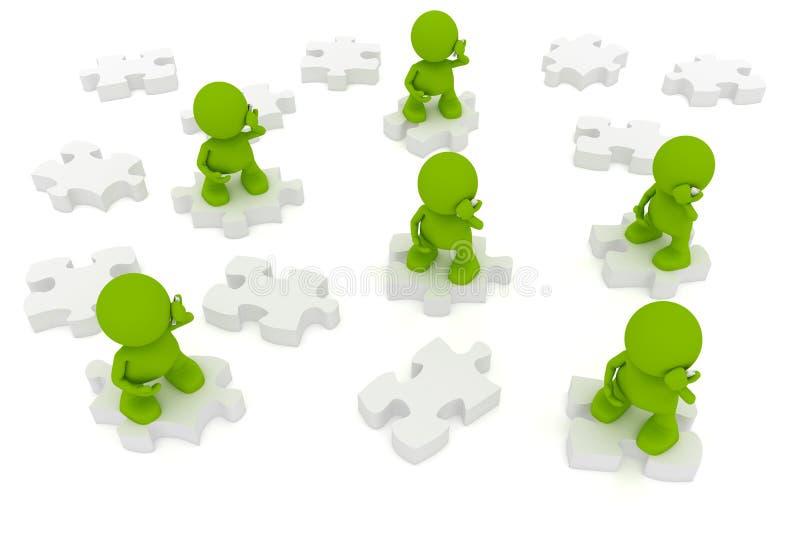 Communication Puzzle stock illustration