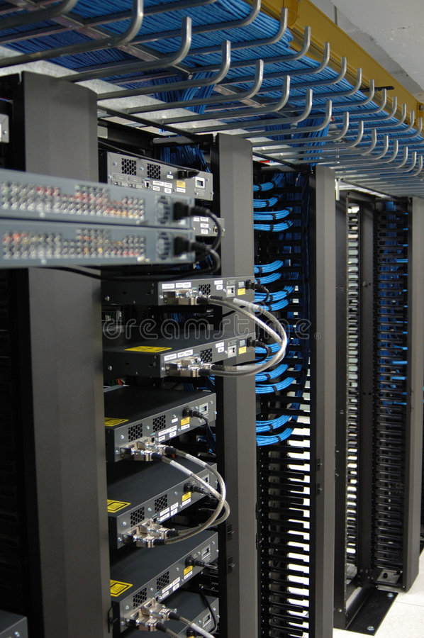Communication racks. In a datacenter filled with switches and routers that keep all the servers connected