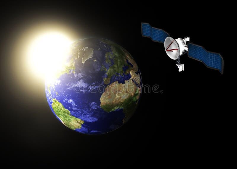Download Communication satellite stock illustration. Image of network - 3188778