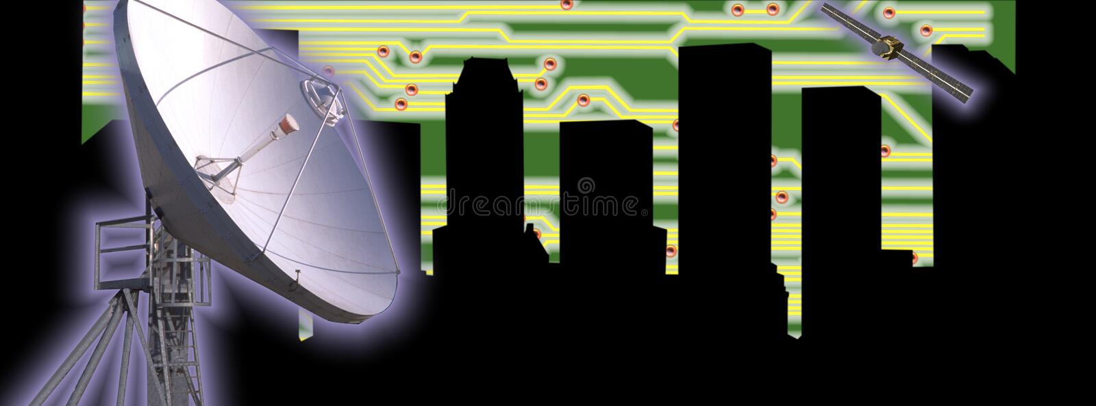 Download CITYSCAPE HIGH TECH TECHNOLOGY INDUSTRY NAVIGATION Stock Illustration - Illustration of code, global: 42962572