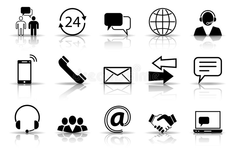 Communication Service Icons stock photos