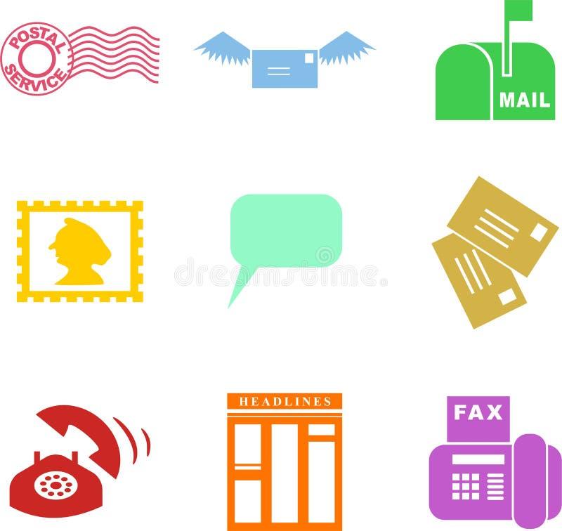 Communication shapes royalty free illustration