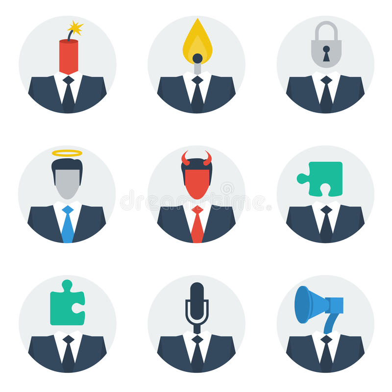 Communication skills concept, people character avatars royalty free illustration