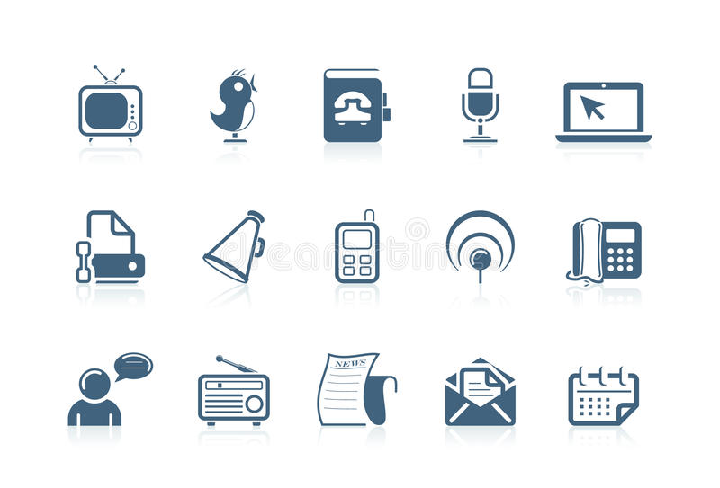 Download Communication And Social Icons Stock Vector - Illustration of mobile, people: 14932325
