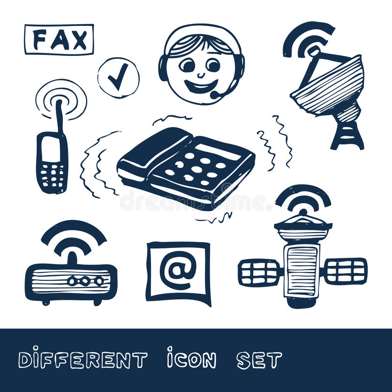 Download Communication And Social Network Web Icons Set Stock Photo - Image: 25324530