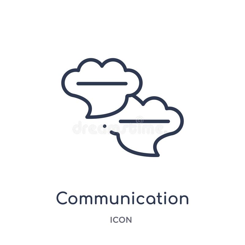 communication speech bubbles icon from multimedia outline collection. Thin line communication speech bubbles icon isolated on vector illustration