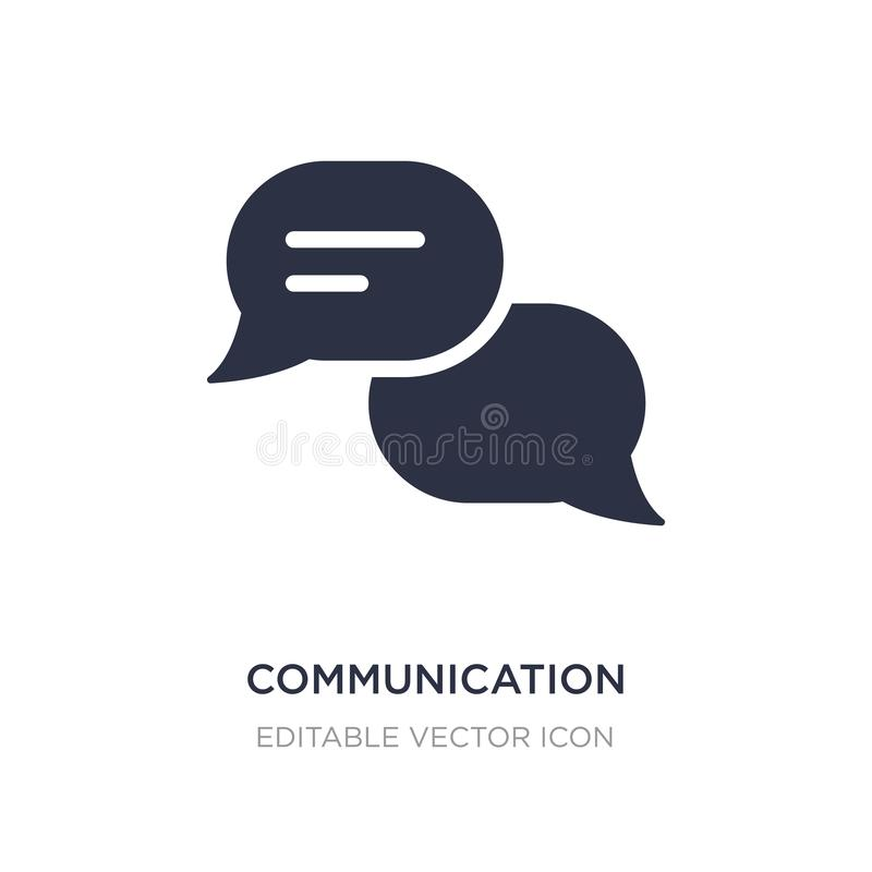 communication speech bubbles icon on white background. Simple element illustration from Multimedia concept royalty free illustration