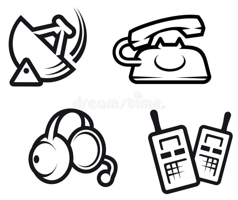 Download Communication symbols stock vector. Image of icon, broadcasting - 15203668
