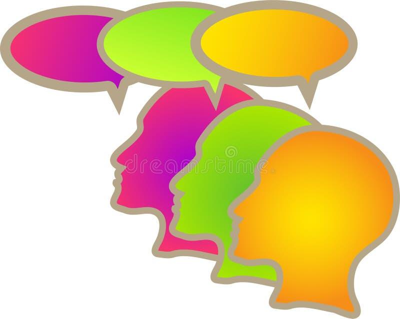 Communication teamwork colorful people vector illustration