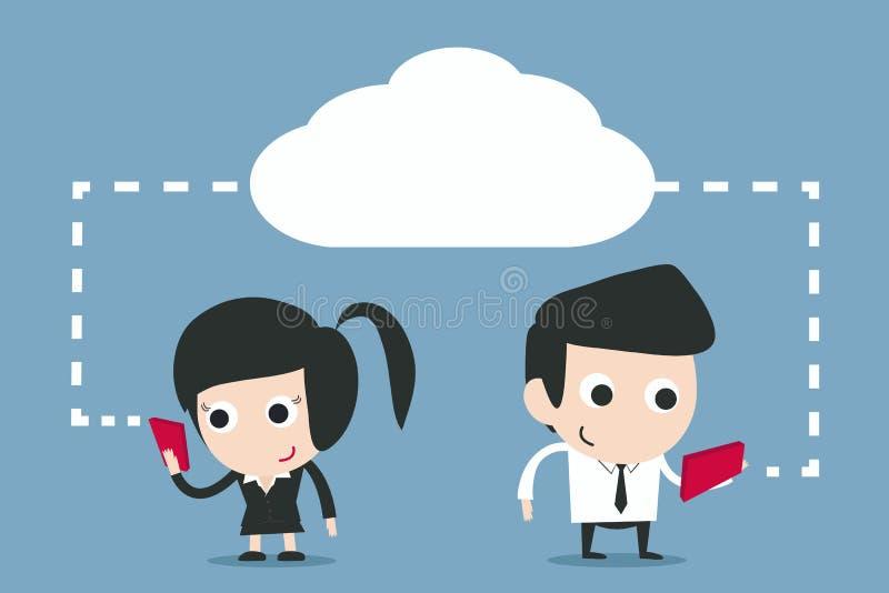 Communication - technologie du sans fil illustration de vecteur