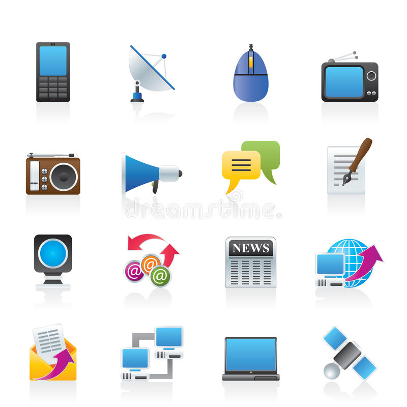 Computer Network And Internet Icons Stock Vector