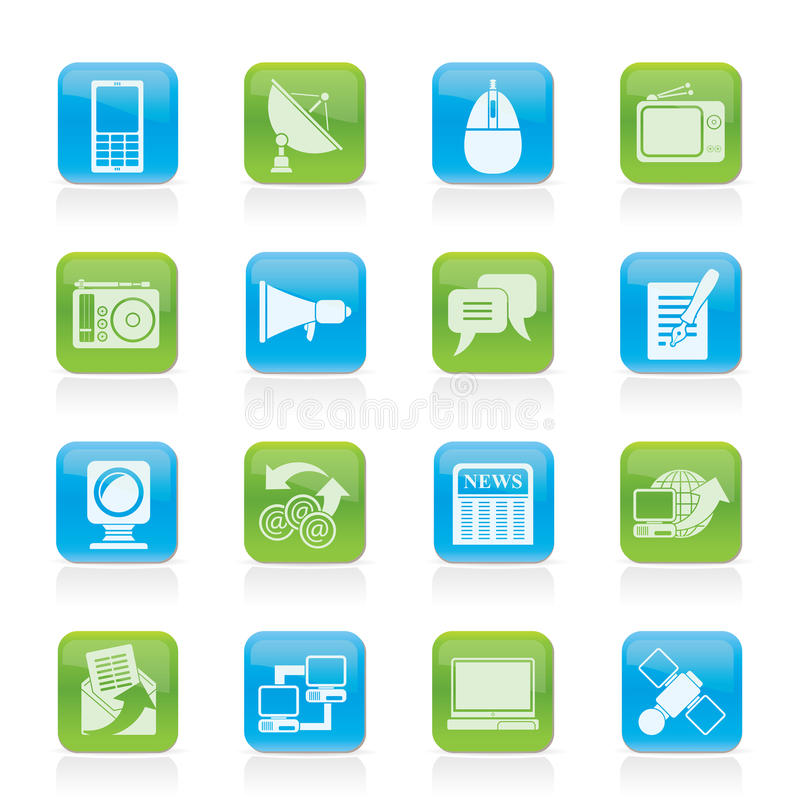 Download Communication And Technology Icons Stock Vector - Image: 23035528