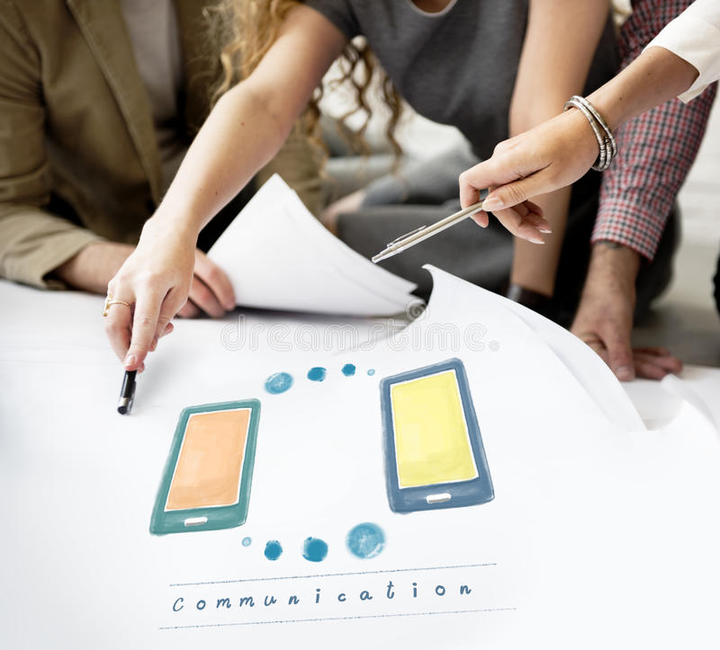 Communication Telecommunication Network Technology Concept stock photos