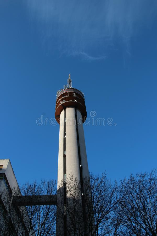 Communications tower of KPN in the Beatrixkwartier in Den Haag in the Netherlands stock images