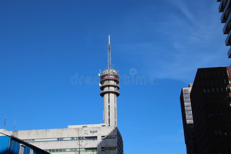 Communications tower of KPN in the Beatrixkwartier in Den Haag in the Netherlands stock photography