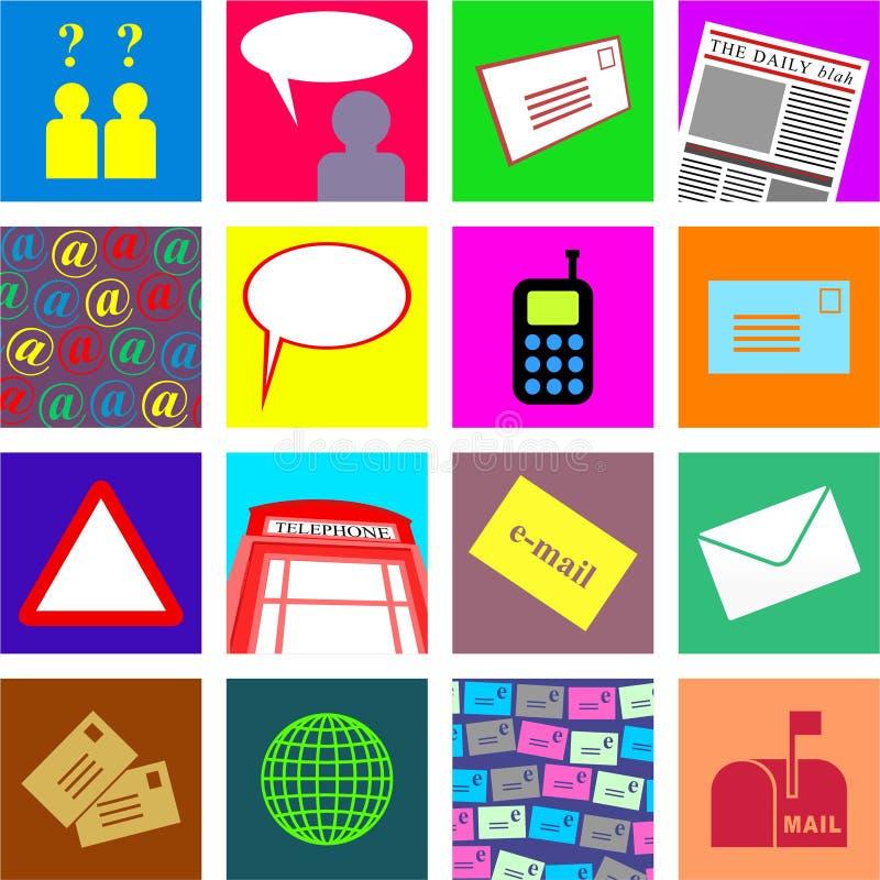 Communication tiles vector illustration