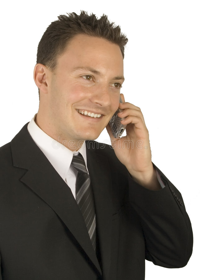 Communication to a businessman royalty free stock image