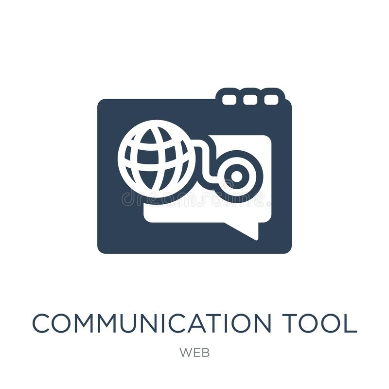 communication tool icon in trendy design style. communication tool icon isolated on white background. communication tool vector royalty free illustration