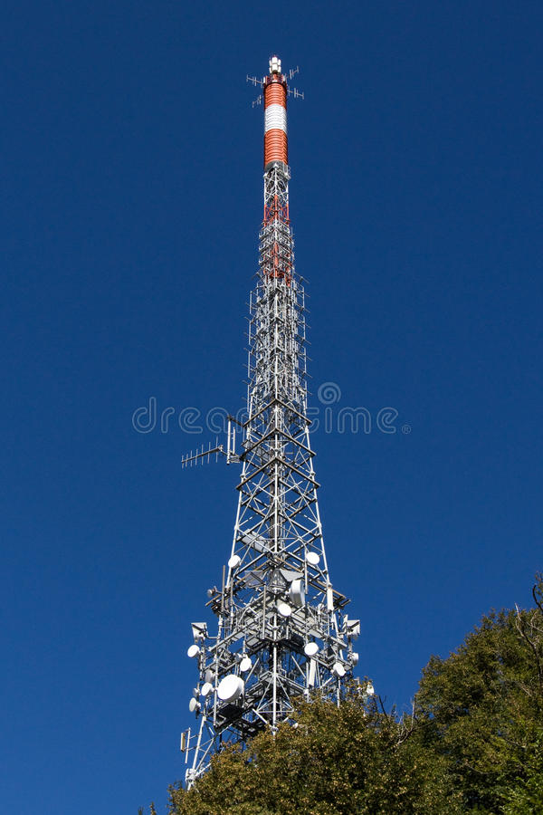 Download Communication Tower stock image. Image of blue, metal - 15803495