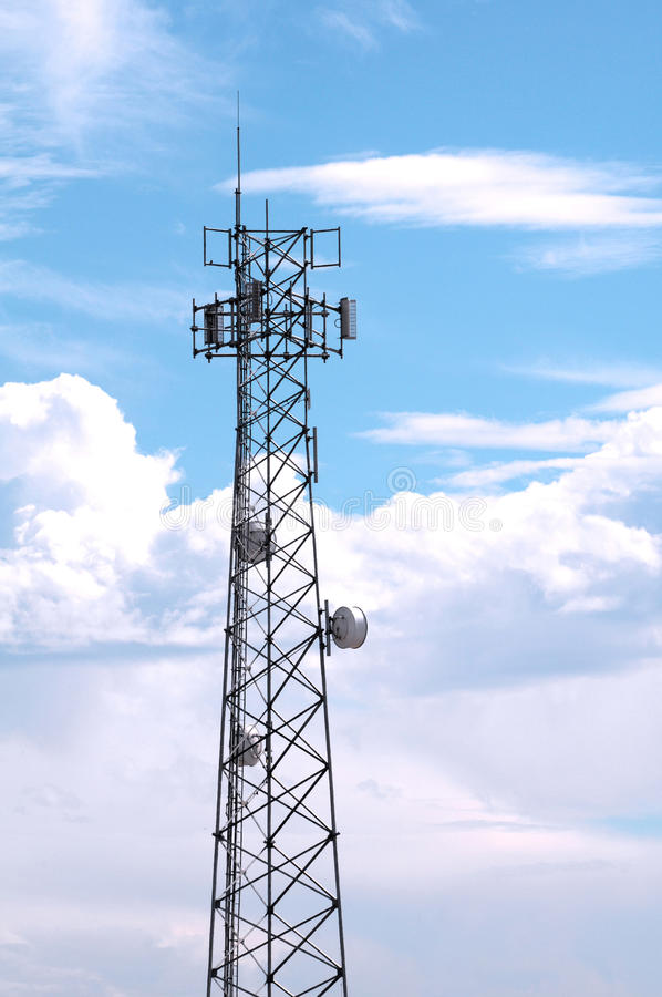 Download Communication Tower stock image. Image of transmitter - 16779631