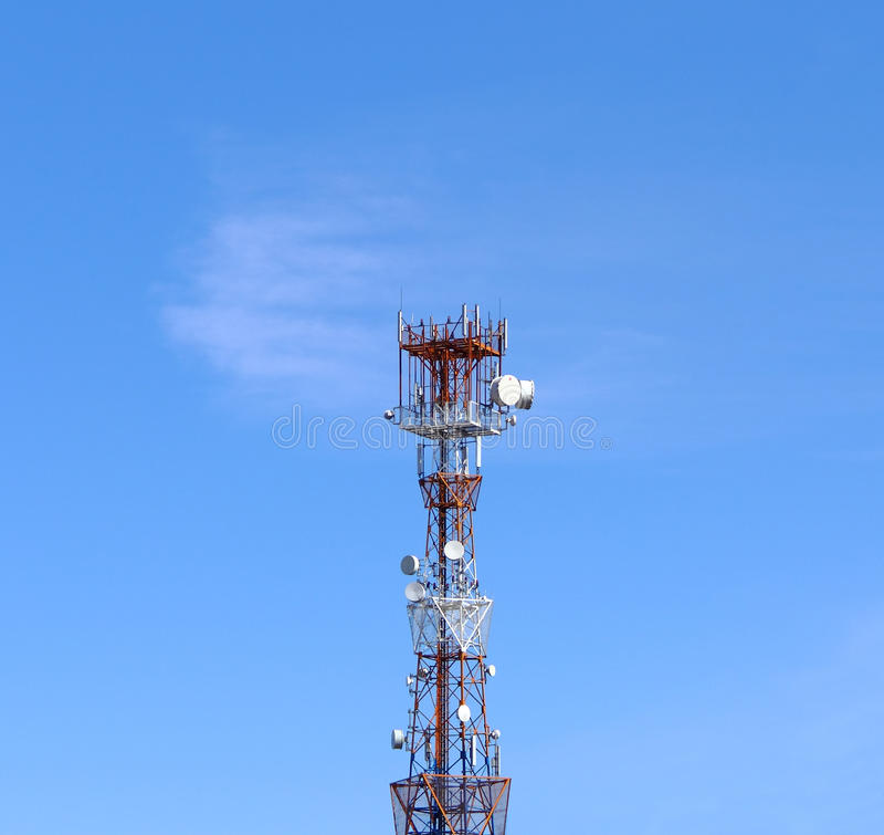 Download Communication tower stock image. Image of engineering - 19385415