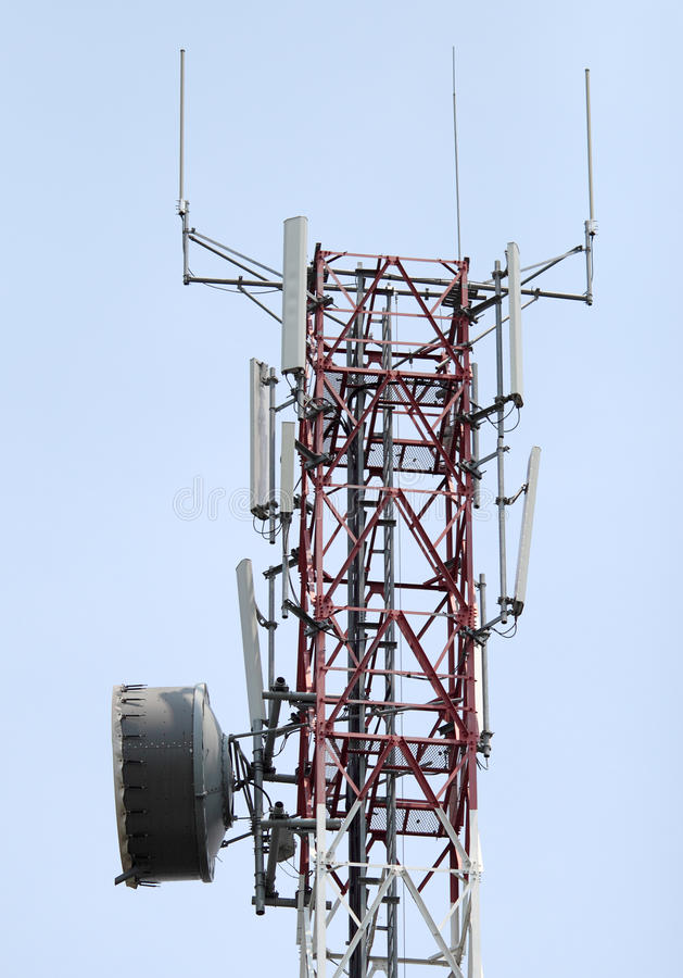 Download Communication tower stock image. Image of antenna, cell - 21088379