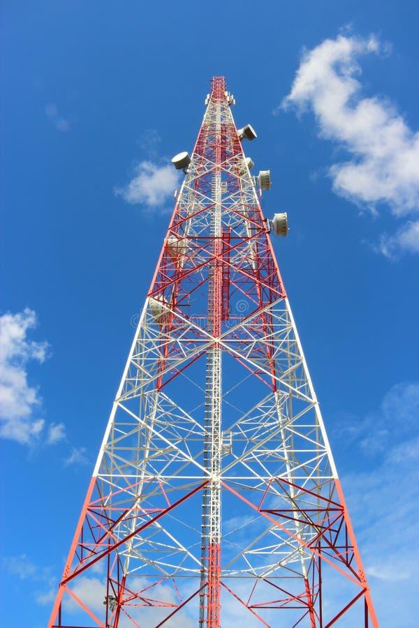 Download Communication tower. stock image. Image of blue, parabolic - 24534879