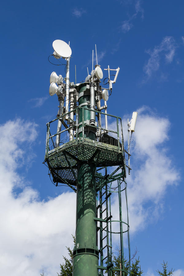 Download Communication tower stock image. Image of aerial, electric - 26297513
