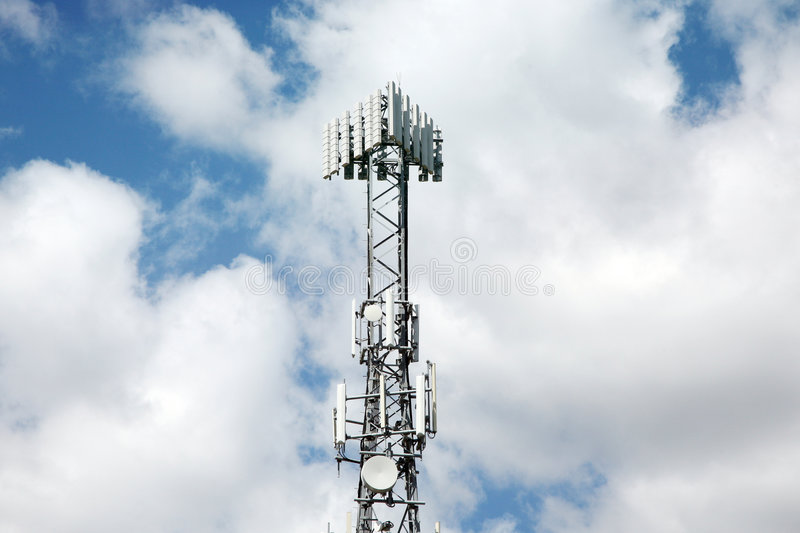 Download Communication tower stock image. Image of tower, connection - 7162669