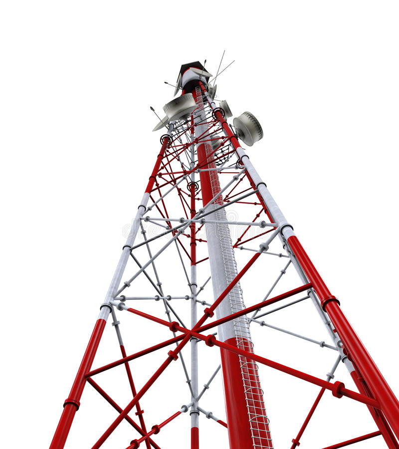 Communication Tower with Antennas royalty free stock photography