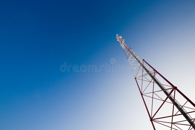 Communication Tower And Blue Sky Stock Images