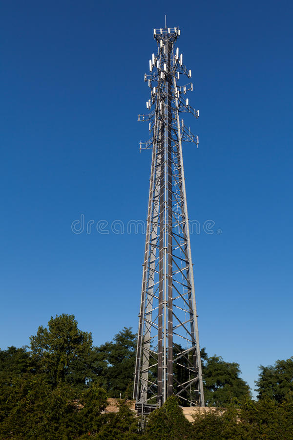 Download Communication Tower stock photo. Image of base, cell - 33402354