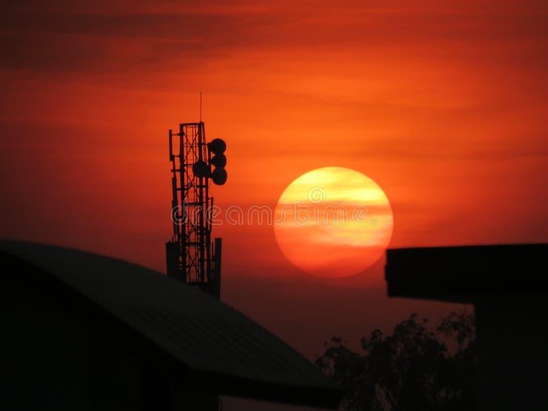 Communication Tower During Sunset Free Public Domain Cc0 Image
