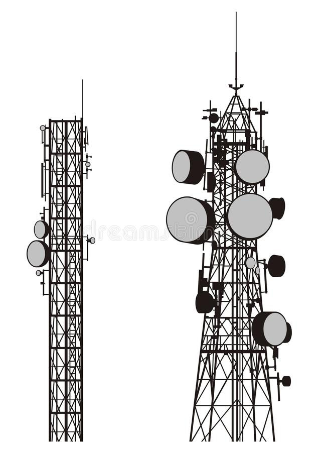 Download Communication Towers Stock Image - Image: 13806881