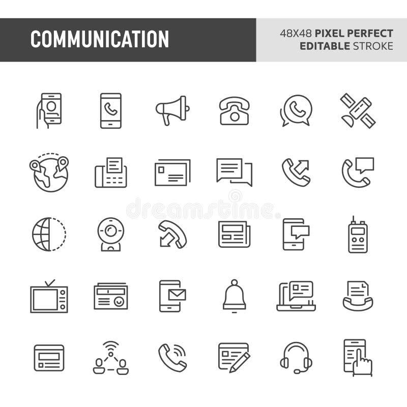 Communication Vector Icon Set stock illustration