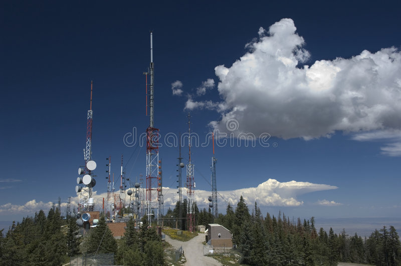 Download Communications Antenna stock image. Image of technology - 8353853