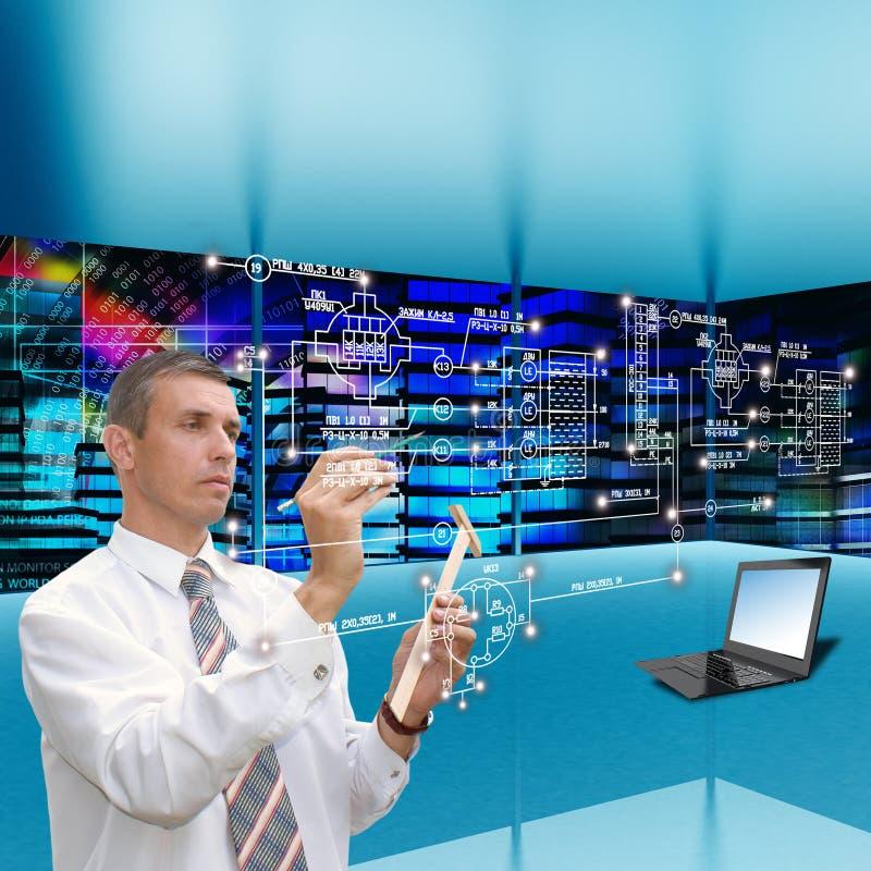 Communications engineering technology. Globalization communications engineering technology.Generation stock image