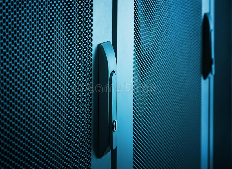 Communications equipment close up door handle royalty free stock image