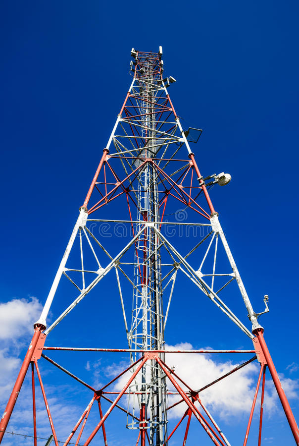 Communications GSM tower, Romania royalty free stock image