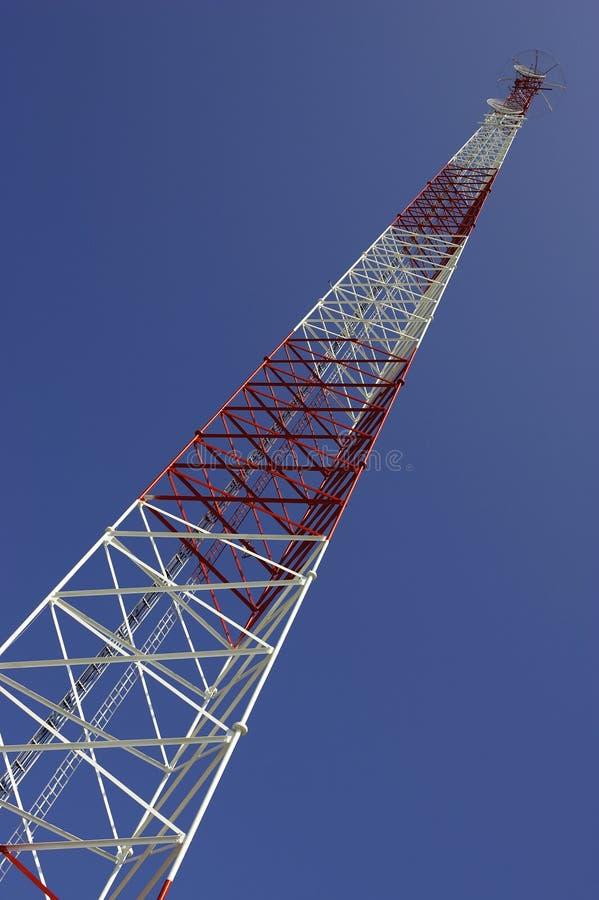 Communications mast key west florida stock image