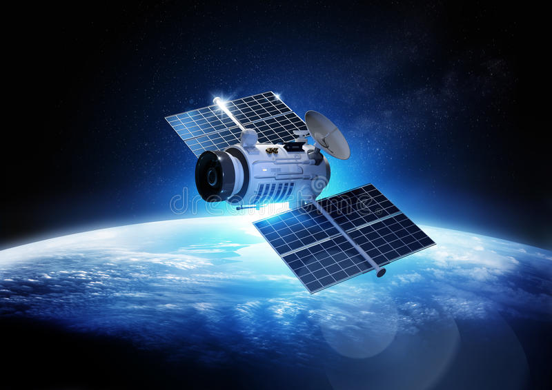 Communications Satellite stock illustration
